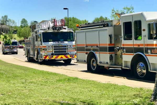 Fire Trucks parked at the IFC First Responders Luncheon