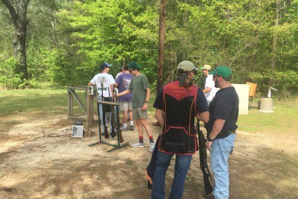 Fraternity Men preparing for Annual IFC Skeet Shoot