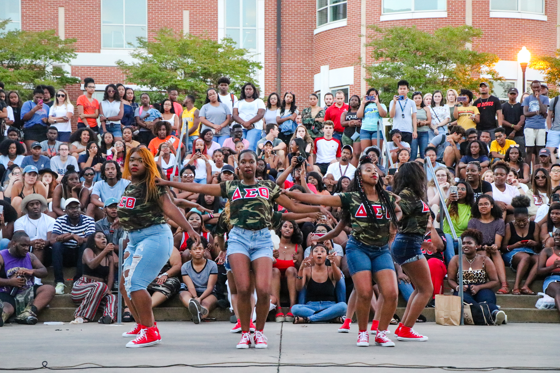 Delta Sigma Theta is performing during the Unity Yard Show